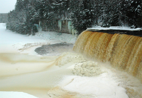 Upper Tahquamenon Falls in the Winter